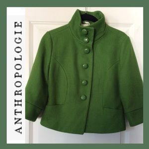 NWOT Anthro TULLE Wool Cropped Peacoat